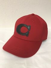 "NWT COACH VARSITY C ADJUSTABLE BASEBALL HAT/CAP RED W BLACK ""C"" F43038"