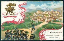 Enna Valguarnera Caropepe Bersaglieri IX Reggimento cartolina QT5638