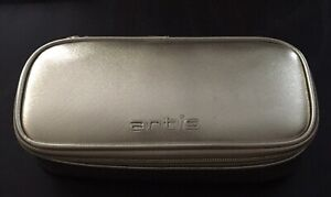 Artis Zippered Brush Case Gold Small New