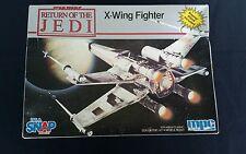 """STAR WARS RETURN OF THE JEDI 8""""  X-WING FIGHTER MODEL KIT ERTL MPC New/Open Box"""
