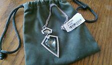 New & Rare ALEXIS BITTAR 'Santa Fe Deco' Arrowhead Clear Lucite Pendant Necklace