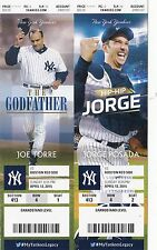 2015 New York Yankees Vs BOSTON RED SOX Ticket Stub 4/12/15
