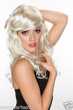 Halloween Blonde Women Sexy Fashion Marilyn Monroe Cosplay Party Wig Long Curly