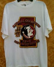 FLORIDA STATE SEMINOLES~NATL CHAMP~12-0 PERFECT 1999 SEASON~XL~PRESHRUNK~S/S TEE