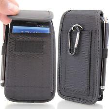 Universal Nylon Phone Waist Bag Clip Hook Belt Holster Card Wallet Pouch Case