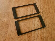 BLACK FLAT ELECTRIC GUITAR HUMBUCKER PICKUP RING FRAME SET