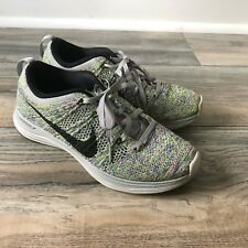 11fc090fa88e NIKE Flyknit Lunar 1 Women Sz 7 Shoes Sneakers Wolf Grey 554888-004 Multi-