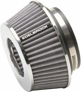 """Edelbrock  43612 Pro-Flo Universal Conical Air Filter  3.7""""  fits 3""""  3.5""""  4"""""""