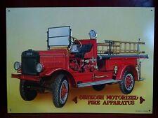 OSHKOSH Motorized Fire Apparatus Fire Truck Vintage Metal Sign