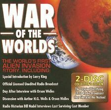 War of the Worlds, The by H. G. Wells 2 CDs unedited w/ Orson Welles & HG Wells
