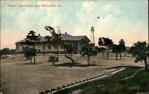 SAVANNAH GA Tybee Lighthouse c1910 Postcard