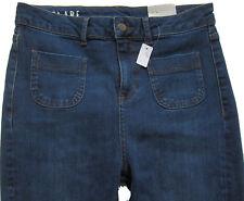 New Womens Marks & Spencer Blue Flared Skinny Flare Jeans Size 12 Regular