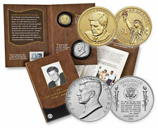 In Hand (2) 2015 John F Kennedy Coin & Chronicles Sets in Unopened Mint Box