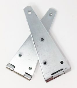 """Hager 8"""" Heavy Duty Strap Hinge CD1092-2C Wrought Steel Galvanized 2 Pack"""