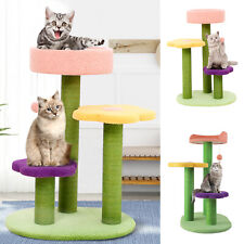 27in Cat Tree Play House Kitty Playing Climbing Furniture w/ Scratching Posts