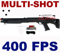 Airsoft Multishot Shotgun Shell Fed Triple Shot 400 FPS Gun Multi burst M56C NEW