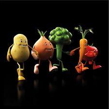 artissimo Glasbild 20x20cm Bild aus Glas Wandbild Küche Küchenbild Gemüse bunt