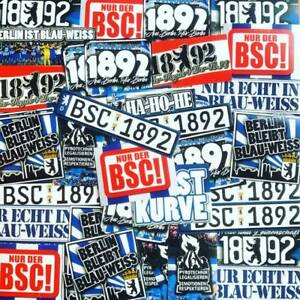 100 x Berlin Decal Sticker Inspired By Hertha BSC Flag Scarf Cap 1892