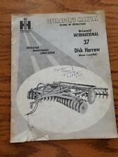 International Harvester Mccormick 37 Wheel Controlled Disk Harrow Manual
