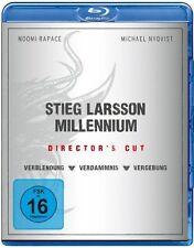 Stieg Larsson  Millenium Trilogie  Blu ray Box  (NEU OVP)  Directors Cut