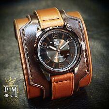 Leather Cuff Watch Nathan Drake Matara Custom Bracelet NYC USA Freddie Matara