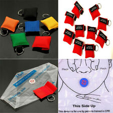 Portable CPR Resuscitator Mask Key Chain Crisis Face Shield First Aid Rescue