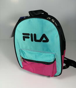 FILA Heritage Teal Pink Black Small Backpack *NEW* SOLD OUT