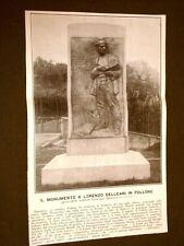 Pollone 22 ottobre 1911 Inaugurazione del monumento a Lorenzo Delleani Bistolfi