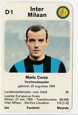 1970 - Dutch Football Card - Mario Corso - Inter Milan