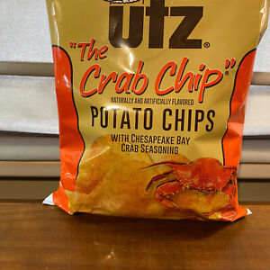 2 Bags Family Size Utz Potato Chips The Crab Chip  9 Ounce Oz Each