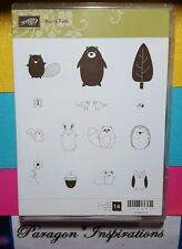 NEW Stampin Up FURRY FOLK Clear Mount Forest Animals Critters Camping Owl Bear