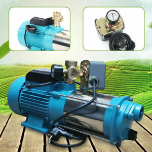 1300W Kreiselpumpe Hauswasserwerk Gartenpumpe mit Druckschalter 6000L/h DHL