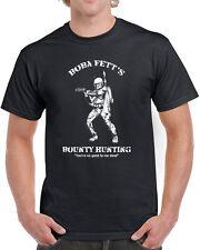 140 Boba Fett Bounty Hunter mens T-shirt star nerd wars empire jedi geek retro