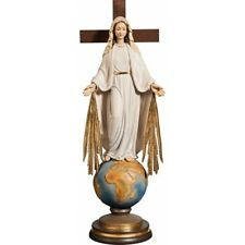 Statue Our Lady of All The Peoples With Spokes & World Under The Feet