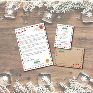 """Personalised Retro Christmas """"Nice"""" List Letter & Certificate 2021 From Santa"""