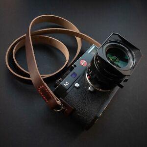 Leather Camera Strap 100cm | 110cm | 120cm (stitched) - Horween Chromexcel
