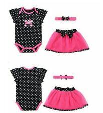 Carter's Dotted Black Romper+ Dark Pink Skirt