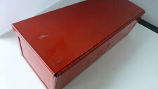 Vintage fire sprinkler head storage box for 12 units red metal box appx. 14 x 5