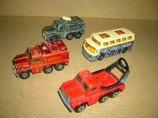 Konvolut Nr. 222 MATCHBOX-LESNEY Badder,Fire Cement Truck,Airport Coach
