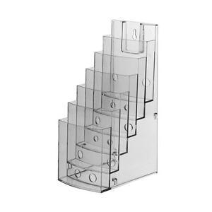 3x Tischprospektständer DIN lang 6 Fächer Tischaufsteller Flyerständer für Flyer