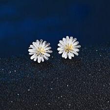 925 Sterling Silver Sun Flower Stud Fashion Butterfly Earrings for Women Jewelry