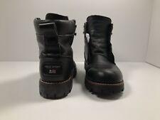 Vintage Ralph Lauren Polo Sport Black Leather Work Boots Mens Size 8.5