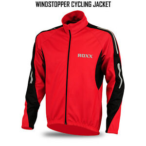 ROXX Mens Cycling Jacket Winter Thermal Fleece Windproof Windstopper Long Sleeve