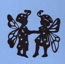 "Cricut Silhouette Ladybug Die Cuts, 2 each, 4"" Tall - Fairy Ladybug Die Cuts"