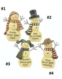 Blossom Bucket..Snowmen Family Members-You Choose*So Cute*