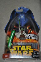 STAR WARS REVENGE OF THE SITH YODA SPINNING ATTACK #26 HASBRO MOSC