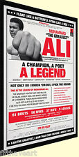 Vintage Mohammed Ali Legend Poster Custom Framed Print High Quality Display