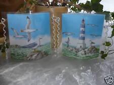 Tischlicht/Windlicht Leuchtturm/Möwen -  Maritim