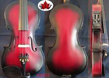 Red-black color full size electric violin +Acoustic violin good sound #22473