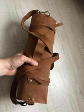 knife roll bag made of genuine leather